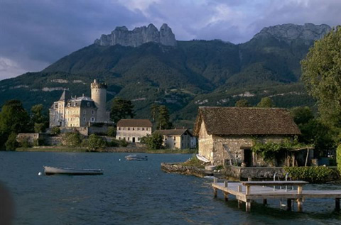 Annecy lake  & Duingt castle
