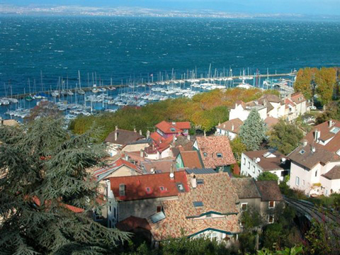 Leman lake & Thonon